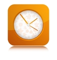 Orange Clock vector image vector image