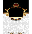 ornate frame with knifes vector image vector image