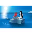 penguin sunbath vector image vector image