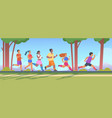 people 5k run men and women group running 5k vector image