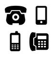 Phone icons set vector image vector image