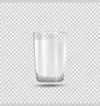 realistic glass of milk vector image