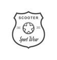 retro sport wear vector image