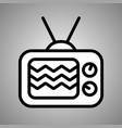 retro tv icon web design icon retro tv flat vector image