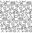 seamless pattern social networks in line style vector image vector image