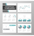 Set of gray and turquoise template for vector image