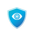 shield with eye safe protection isolated on white vector image vector image