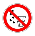 Sign no littering 2204 vector image