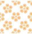 Stylized Orange Suns Pattern on a White Background vector image