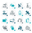 stylized wireless and technology icons vector image vector image
