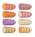 sweet potatoes slices vector image