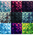 Triangular Low Poly Backgrounds set Different vector image