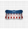 veterans day usa patriotic badge vector image