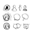 web chat icons vector image vector image