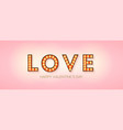 word love on pink background creative design vector image vector image