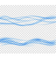 Abstract blue wave set on transparent backgroun