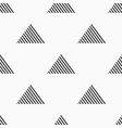 abstract seamless pattern of striped triangles vector image vector image