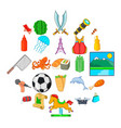aestival icons set cartoon style vector image vector image