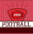 american football sport vector image