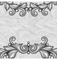 Background with baroque ornamental floral silver vector image vector image