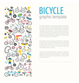 Bicycle graphic design Bike types flat des vector image vector image