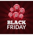 Black Friday Sale background Discount balloons vector image vector image