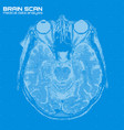 blue abstract brain tomography vector image
