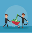 businessmens and money cartoons vector image vector image