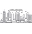 canada vancouver architecture line skyline vector image vector image