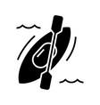 canoe black icon concept vector image