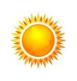 Cartoon Style Glossy Sun Icon vector image