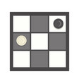 checkers game icon cartoon vector image vector image