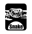 chinese calendar animal monochrome logotype snake vector image