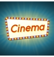 Cinema 3d retro light banner with shining bulbs vector image vector image