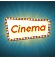 Cinema 3d retro light banner with shining bulbs vector image vector image