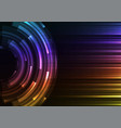 circle digital abstract layer background vector image vector image