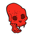 comic cartoon spooky vampire skull vector image vector image