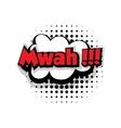 Comic text mwah sound effects pop art vector image vector image