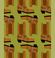 cowboy boots pattern australian shoes background vector image vector image