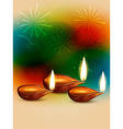 creative happy diwali vector image vector image