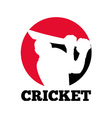 cricket icon vector image vector image