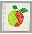 Doodle apple collage vector image vector image