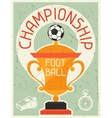 Football Championship Retro poster in flat design vector image vector image