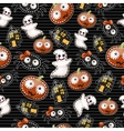 Funny background with symbols of Halloween vector image vector image