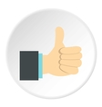 Gesture approval icon flat style vector image vector image