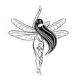 girl fairy 2021 0001 vector image vector image