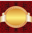gold red background vector image vector image