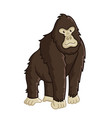 gorilla icon isolated wild strong ape vector image