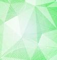 Green crystal pattern dot hi-tech background vector image vector image