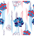 hand drawn floral seamless background pattern for vector image vector image